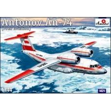 Amodel 1/144 Советский транспортный самолет Ан-74 полярной авиации. № 1421