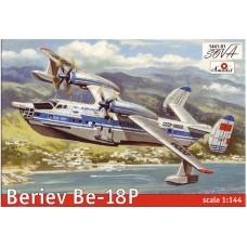 Amodel 1/144 Советский пассажирский самолёт-амфибия Бе-18П. № 1441-01