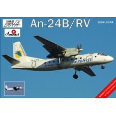 Amodel 1/144 Советский пассажирский самолёт Ан-24Б /РВ. № 1464-01