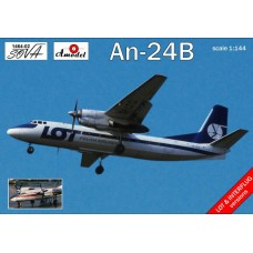 Amodel 1/144 Советский пассажирский самолёт Ан-24Б. № 1464-02