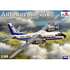 Amodel 1/144 Советский пассажирский самолёт Ан-24. № 1464