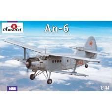 Amodel 1/144 Советский высотный разведчик погоды Ан-6. № 1466