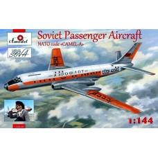 Amodel 1/144 Советский пассажирский самолёт Ту-104. № 1469-01
