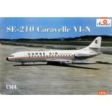 Amodel 1/144 Пассажирский лайнер Sud Aviation SE.210 Caravelle VI-N. № 1479