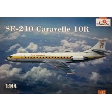 Amodel 1/144 Пассажирский лайнер Sud Aviation SE.210 Caravelle 10R. № 1480