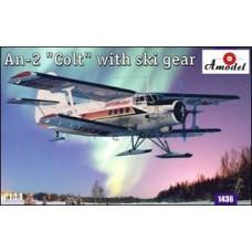 Amodel 1/144 Советский лёгкий транспортный самолёт АН-2 на лыжах. № 1436