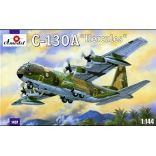 Amodel 1/144 Американский военно-транспортный самолёт Lockheed C-130 Hercules. № 1437