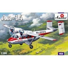 Amodel 1/144 Советский лёгкий транспортный самолёт Ан-14 «Пчёлка». № 1456