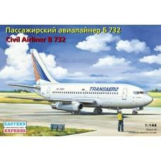 """Eastern Express 1/144 Ближнемагистральный пассажирский самолет Boeing 732 """"Transaero"""". № 14470"""