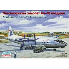 Eastern Express 1/144 Советский среднемагистральный пассажирский самолёт Ан-10 «Украина». 14485