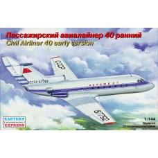 Eastern Express 1/144 Советский пассажирский самолет Як-40 (ранняя версия). № 14492