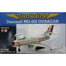 MiniWing 1/144 Французский истребитель-бомбардировщик Dassault MD.450 Ouragan. № Mini078