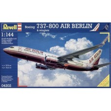 Revell 1/144 Пассажирский самолёт Boeing 737-800 (Air Berlin and Winglets). № 04202