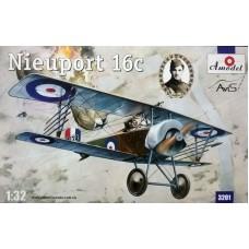 Amodel 1/32 Истребитель-биплан Nieuport 16c ВВС Великобритании. № 3201