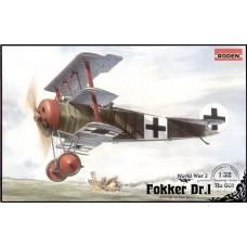 Roden 1/32 Германский истребитель Fokker Dr.I. № 601