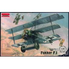 Roden 1/32 Германский истребитель Fokker F.I (самолет Первой Мировой Войны). № 605