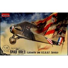 """Roden 1/32 Истребитель-биплан SPAD VIIc.1 американской экспедиционной эскадрильи """"Lafayette"""". № 615"""
