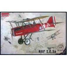 Roden 1/32 Британский истребитель RAF S.E.5a c двигателем Wolseley Viper. № ROD_607