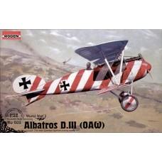 Roden 1/32 Германский истребитель-разведчик Albatros D.III (OAW). № ROD_608