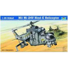 """Trumpeter 1/35 Советский ударный вертолет Ми-24В """"Hind"""". № 05103"""