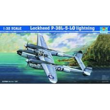 Trumpeter 1/32 Американский тяжёлый истребитель Lockheed P-38L-5-LO Lightning. № 02227