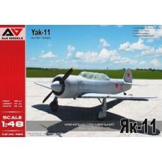 """A&A Models 1/48 Советский учебно-тренировочный истребитель Як-11 """"Moose"""". № 4801"""