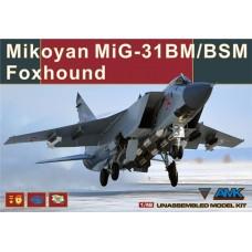 """AMK 1/48 Советский истребитель-перехватчик МиГ-31БМ/БСМ """"Foxhound"""". № 88003"""