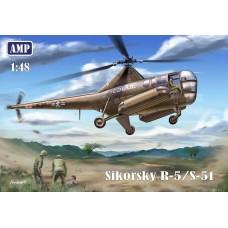 AMP 1/48 Американский вертолёт Sikorsky R-5/S-51 «Dragonfly». № 48002