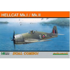 Eduard 1/48 Истребители ВМФ Великобритании: Hellcat Mk. I/Mk. II (Dual Combo). № 8223
