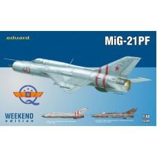 Eduard 1/48 Советский всепогодный перехватчик МиГ-21ПФ (Weekend edition). № EDU_84217