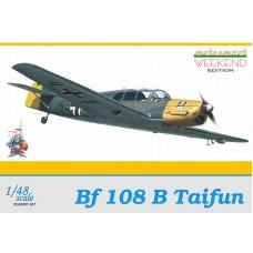 """Eduard 1/48 Немецкий учебно-тренировочный самолет Messerschmitt Bf.108 """"Taifun"""". (Weekend edition). № 8477"""