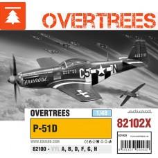Eduard 1/48 Американский истребитель P-51D Mustang (Overtrees +PE parts). 82102x
