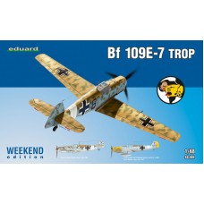 Eduard 1:48 Немецкий истребитель Messerschmitt Bf.109E-7 Trop (Weekend edition). № 84167