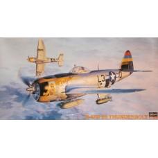 Hasegawa 1/48 Американский истребитель-бомбардировщик P-47D-25 Thunderbolt. № 09140