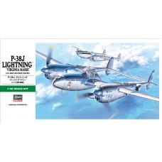 Hasegawa 1/48 Американский истребитель Lockheed P-38J Lightning «Virginia Marie». № 09101
