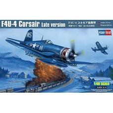 """Hobby Boss 1:48 Американский палубный истребитель F4U-4 """"Corsair"""" Late version. № 80387"""