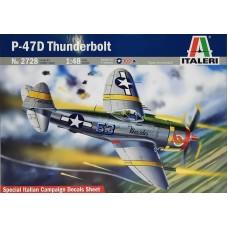 Italeri 1/48 Американский истребитель-бомбардировщик Republic P-47 Thunderbolt. № 2728