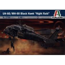 """Italeri 1/48 Американский вертолёт Sikorsky UH-60/MH-60 Black Hawk """"Night Raid"""". № ITA_2706"""