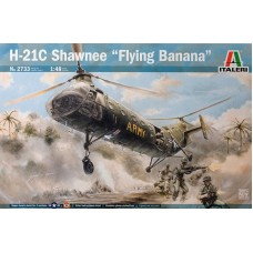 "Italeri 1/48 Американский военно-транспортный вертолет Piasecki H-21C Shawnee ""Flying Banana"". № 2733"