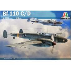 Italeri 1/48 Немецкий истребитель-бомбардировщик Messerschmitt Bf.110C/D. № 2794
