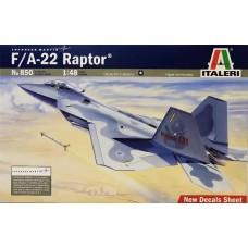 """Italeri 1/48 Американский многоцелевой истребитель Lockheed Martin F/A-22 """"Raptor"""". № ITA_0850"""