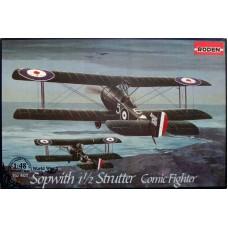 Roden 1/48 Британский истребитель Sopwith 1½ Strutter Comic Fighter. № 407