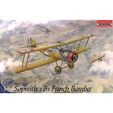 Roden 1/48 Французский бомбардировщик Sopwith 1.B1. № 411