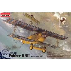 Roden 1/48 Германский самолет Fokker D.VII (поздний). № 417