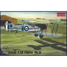 Roden 1/48 Британский лёгкий бомбардировщик Bristol Fighter F.2b Mk.IV. № 428
