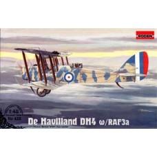 Roden 1/48 Британский дневной бомбардировщик De Havilland DH4  c двигателем RAF3a. № 432