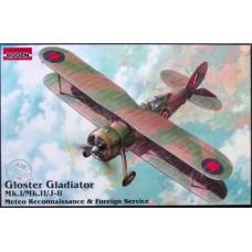 Roden 1/48 Британский истребитель-разведчик Gloster Gladiator Mk.I/Mk.II/J.8. № 438