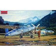 "Roden 1/48 Легкий многоцелевой самолет PC-6/H2 Turbo Porter ""AIR AMERICA"". № 440"