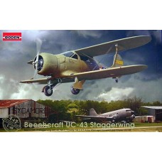 Roden 1/48 Американский военно-транспортный самолет Beechcraft UC-43 Staggerwing Beechcraft 17 (UC-43, GB-2, Traveler Mk.I). № 442