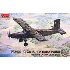 Roden 1/48 Американский (швейцарский) самолёт Pilatus PC-6-B2/H-2 Turbo Porter (Fairchild UV-20A Chricahua). № 443